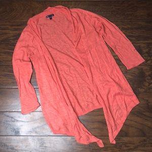Gap Peach coral light sweater open cardigan